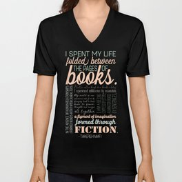 Folded Between the Pages of Books - Pastel Unisex V-Neck