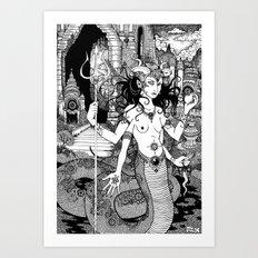 Naga Art Print