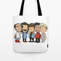 1d Tote Bags featuring Schulz 1D by Ashley R. Guillory