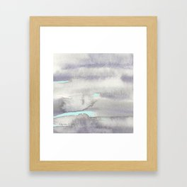 Stormy Weather with Blue Sky Framed Art Print
