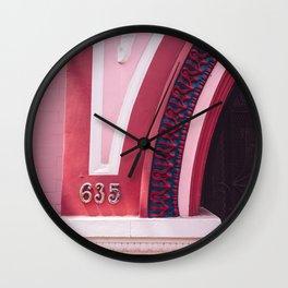 San Francisco Pink Wall Clock