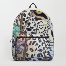 Never Resting - Leopard by Maureen Donovan Backpack
