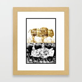 Golden Buffalo Framed Art Print