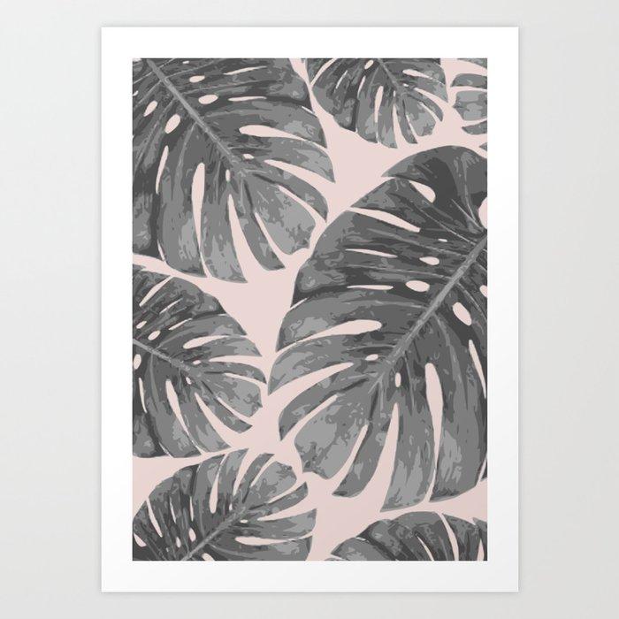 Tropical palm veil Art Print