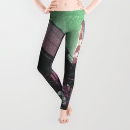 INDUSTRIAL JUNGLE - GREEN Leggings
