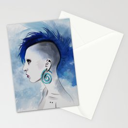 Watercolor Mohawk Stationery Cards