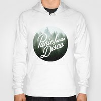 panic at the disco Hoodies featuring Panic! at the disco round trees  by Van de nacht