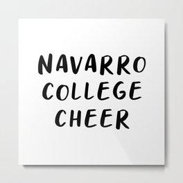 Navarro College Cheer Metal Print