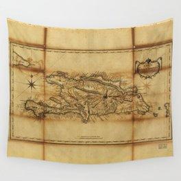 Carte de l'Isle St. Domingue (1796) Wall Tapestry