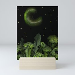 Moon over Broccoli Mini Art Print