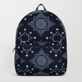 Art Deco 31 Black blue Backpack