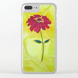 Zinnia Flower Clear iPhone Case