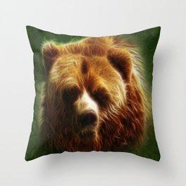 The Bear Spirit Throw Pillow