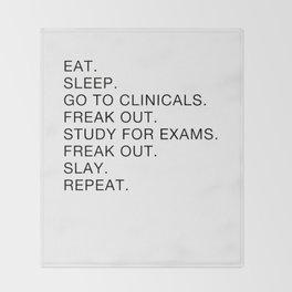 Clinical, Nursing Student, Med Student Throw Blanket