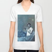fullmetal alchemist V-neck T-shirts featuring THE ALCHEMIST by Julia Lillard Art