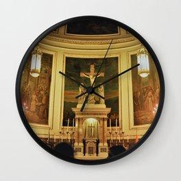 Yellow Church Wall Clock