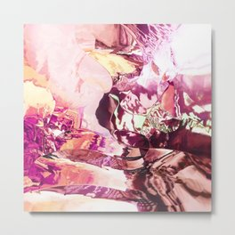 Pink planet sunrise Metal Print