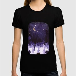 purple cats T-shirt
