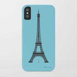 Eiffel Tower - First Kiss iPhone Case