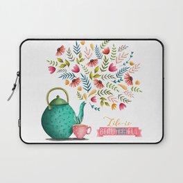 Beau-tea-ful Life Illustration Laptop Sleeve