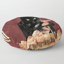 Black Cat Chef Poster, Baking Because Murder is Wrong Wall Art, Cat Baking Cake Poster Gift for Women Men on Xmas, Christmas, Halloween Floor Pillow