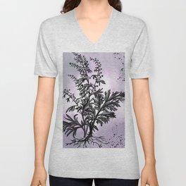 Wormwood Botanical Illustration Unisex V-Neck