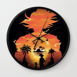 Goku Sunset Wall Clock