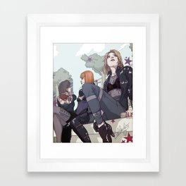 When We Went Leather Framed Art Print
