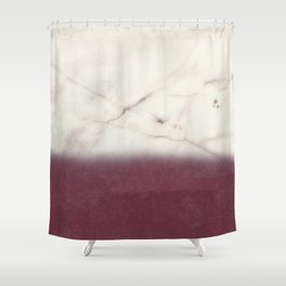 marble and purple Shower Curtain
