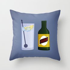 Gin & Tonic Throw Pillow
