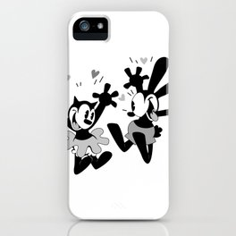 Oswald and Ortensia (B/W) iPhone Case