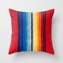 Mexican Serape Throw Pillow