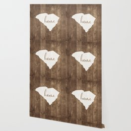 South Carolina is Home - White on Wood Wallpaper