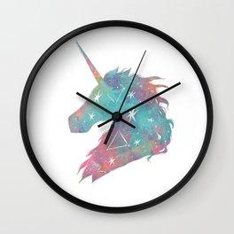 Watercolor Unicorn Wall Clock