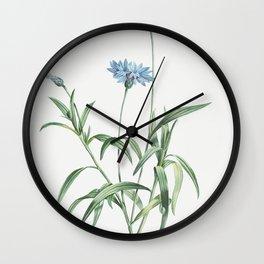 Blue flower from La Botanique de J J Rousseau by Pierre-Joseph Redoute (1759-1840) Wall Clock