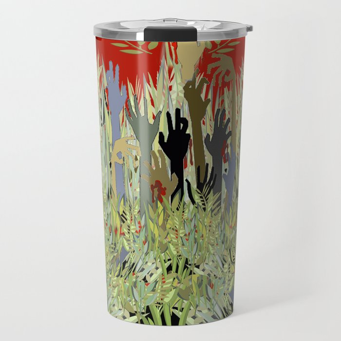 In A Zombie Garden Travel Mug