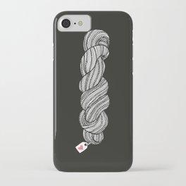 Yarn Crafter Skein Love White on Black iPhone Case