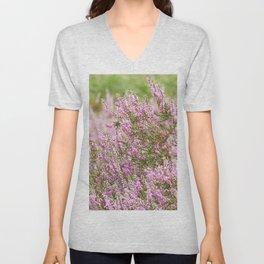 Summer Pink Purple Heather Unisex V-Neck