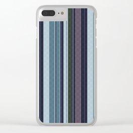 vertical stripes. 2 Clear iPhone Case