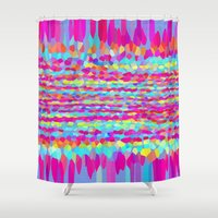 fringe Shower Curtains featuring Fringe by Mistflower