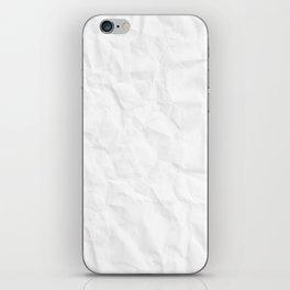 Crumpled Paper iPhone Skin