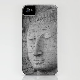 Seated Buddha statue in dhyana mudra pose at Gal Viharaya iPhone Case