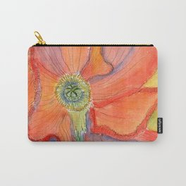 Red Poppy-3 (Papaver rhoeas) Carry-All Pouch