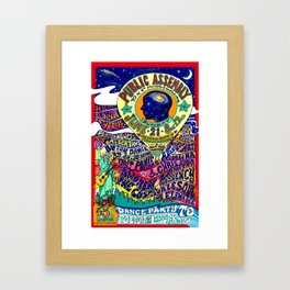 United States of Consciousness Poster Framed Art Print