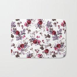 winter floral Bath Mat