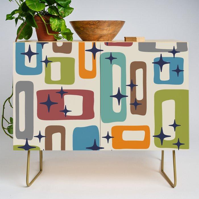 Retro Mid Century Modern Abstract Pattern 224 Credenza
