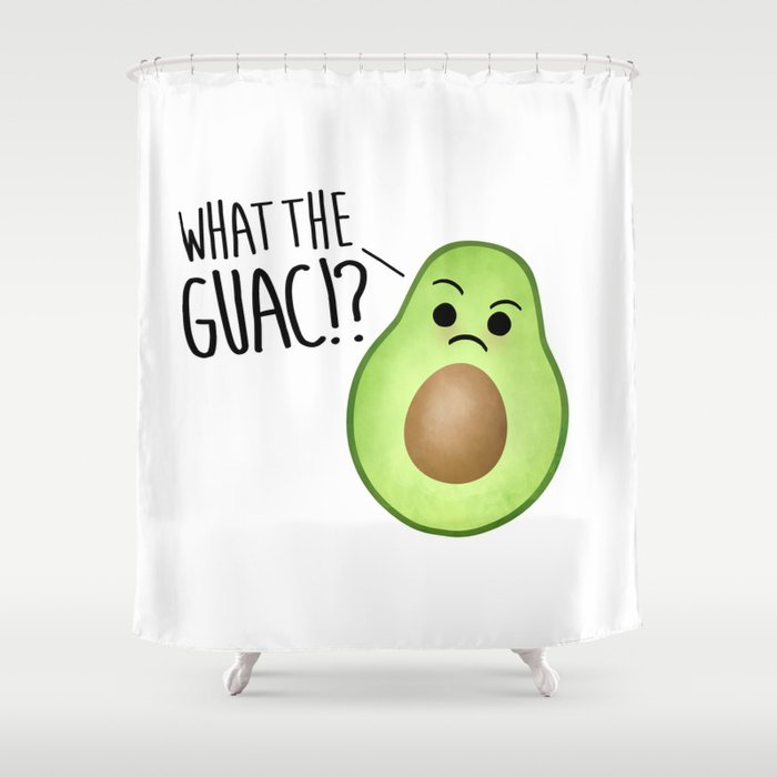 What The Guac - Avocado Shower Curtain