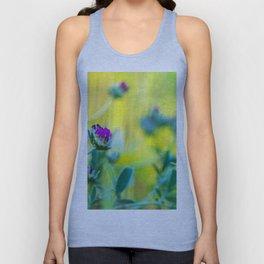 Garden of vibrant colors wildflowers II Unisex Tank Top