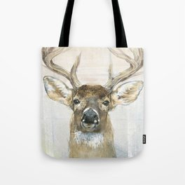 White-tailed Deer Surrounded By Birch Tote Bag
