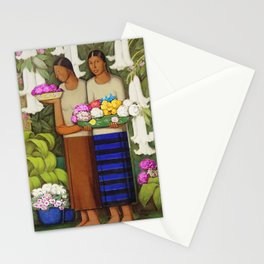 Flowers of Mexico, Angel's Trumpet, Tiger Lilies, Bougainvillea,& Peonies by Alfredo Martinez Stationery Cards